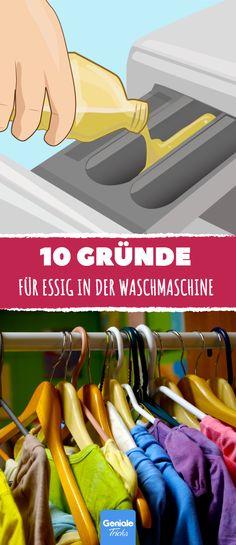 10 Gründe für Essig in der Waschmaschine.