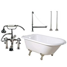 Randolph Morris 60 Inch Clawfoot Tub Package with British Telephone Faucet with Fixtures