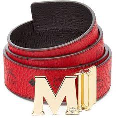 MCM Claus Reversible Belt ($295) ❤ liked on Polyvore featuring men's fashion, men's accessories, men's belts, men accessories - belts, mens real leather belts, mens genuine leather belts, mens belts and mcm mens belt
