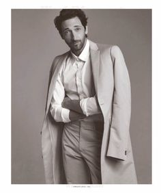 Adrien Brody para The Big Black Book de Esquire Spring 2014 | Male Fashion Trends