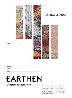 WSTUDIO Colour Effects: Earthen    Fall is full of earthen hues, from the changing leaves to an abundance of root vegetables. How do you make use of the earthen colours in your space?