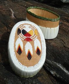 Porcupine quill basket by Jamie Root; traditional medicine wheel. WOW