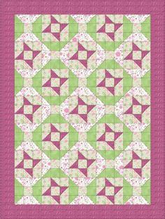 Springtime Ribbons is an easy quilt pattern that was inspired by a line of fabrics used for cancer awareness quilting.
