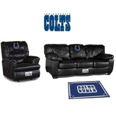 Use this Exclusive coupon code: PINFIVE to receive an additional 5% off the Indianapolis Colts Leather Furniture Set at SportsFansPlus.com