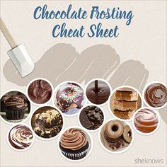 12 Chocolate frosting recipes in 1 quick and easy guide (INFOGRAPHIC)