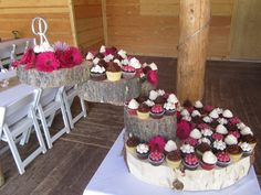 september wedding at piney lake with local bride and groom choosing raspberries and white cremes to compliment elegant rustic decor