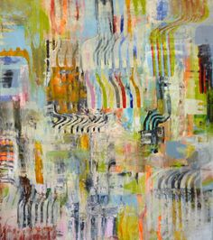 "Saatchi+Online+Artist+Mary+Robertson;+Painting,+""Tilt+a+Whirl""+#art"