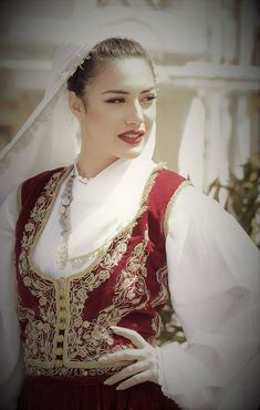 Greek woman with the Cretan traditional dress. Folk Clothing, Greek Culture, Beauty Around The World, Folk Dance, Folk Costume, Beautiful Indian Actress, Traditional Dresses, Indian Actresses, Greece