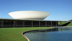 House of representatives in the Parliament Building in Brasilia, Brazil by Oscar Neimeyer, photograph by Rick Ligthelm