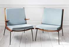 boomerang lounge chairs, by hvidt and nielsen