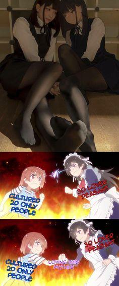 Something to agree Stupid Funny Memes, Really Funny Memes, Otaku Meme, Anime Crossover, Anime Life, Anime Demon, Funny Comics, Kawaii Anime, Anime Art