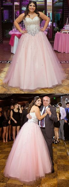 modest sweetheart pink ball gowns, fashion beaded quinceanera dresses for prom 18