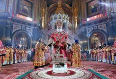 Patriarch Cyril of the Russian Orthodox Church looks like a Dark Souls boss