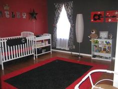 Bentley's rockstar nursery decor is both a reflection of my and his dad's love of the whole rocker, skull, rockstar get up as well as our baby boy's character. He was born as a preemie at 30 weeks and we spent 2 1/2 months in the NICU which motivated me even more to make his room extra special.