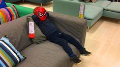 Маленький Смешной Мальчик Человек Паук