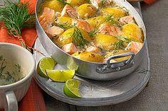 Gratinierte Dillkartoffeln mit Lachs, ein raffiniertes Rezept aus der Kategorie Fisch. Bewertungen: 66. Durchschnitt: Ø 4,3.