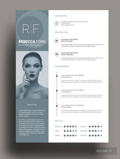 RANIN RESUME This resume template is incredibly made for those who are seeking excellence in the job they are applying for. This resume design will help you to win the interest of your employer through its simplicity and elegance. Creative Cv Template, Creative Resume, Graphic Design Cv, Cv Design, Book Design, Design Art, Resume Design Template, Resume Templates, Letterhead Design