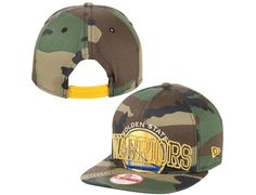 Golden State Warriors Camo Metallic Cue 9Fifty Snapback Cap by NEW ERA x NBA ad3874962958