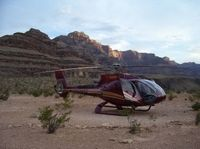 Take a helicopter flight into the depths of the Grand Canyon for a champagne picnic 3,200 feet (960 meters) below the canyon rim. Enjoy a low-level flight over Lake Mead, Hoover Dam and extinct volcanoes, and conclude your adventure with an exciting pass over the Las Vegas Strip.  www.partner.viator.com/en/11907/tours/Las-Vegas/Grand-Canyon-Deluxe-Helicopter-Tour-with-Champagne-Picnic/d684-2280125