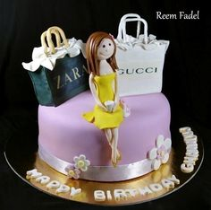She loves to shop!  Cake by ReemFadelCakes