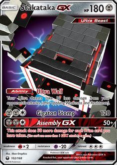 Stakataka GX - SM - Celestial Storm, Pokemon - Online Gaming Store for Cards, Miniatures, Singles, Packs & Booster Boxes Fake Pokemon Cards, Original Pokemon Cards, Pokemon Tcg Cards, Pokemon Trading Card, Pokemon Fake, Pokemon Movies, Pokemon Toy, Pokemon Rayquaza, Charizard
