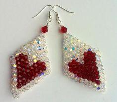 "Free Valentine's ""Heart"" Beaded Earrings tutorial featured Sova-Enterprises.com"