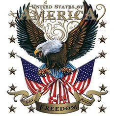 American Eagle Let Freedom Reign Tee Usa Patriotic Shirts Oil Pastel Art Patriotic Shirts Prints