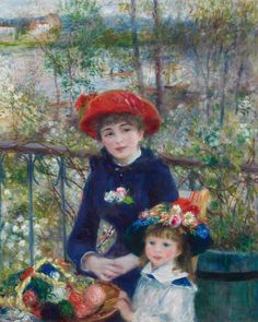 "Pierre-Auguste Renoir ~ ""Two Sisters (on the Terrace)"", 1881, The Art Institute of Chicago"
