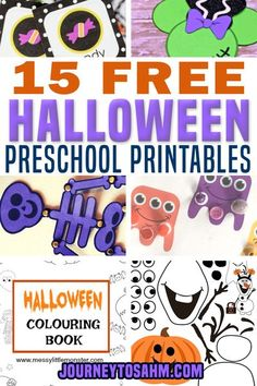15 Free Halloween Preschool Printables – I love Halloween and all that you can do with the kids. As a mom of two, it can be tough to get out to the store and find fun things to do at home with them to celebrate! That why I put together the best Halloween preschool printables that are absolutely free! | Journey to SAHM @journeytosahm #halloweenprintables #freehalloweenprintables #preschoolhalloween #halloweencrafts #preschoolhalloweengames #preschoolprintables #journeytosahm Toddler Preschool, Toddler Activities, Preschool Learning, Educational Activities, Toddler Crafts, Preschool Activities, Games For Toddlers, Parenting Toddlers, Parenting Hacks