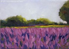 Oil Painting ''Lavender Field Landscape Painting Fine by ArtSummer
