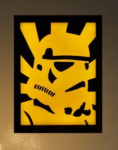 Star Wars Storm Trooper Led Light Box 3D Wax Painting | uniquewaxworks - Movies & Music on ArtFire