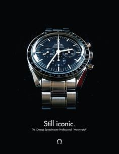 """Still iconic. The Omega Speedmaster Professional """"Moonwatch"""". Modern Watches, Casual Watches, Watches For Men, Omega Speedmaster Moon, Moon Watch, Speedmaster Professional, Rolex Tudor, Gentleman Style, Chronograph"""