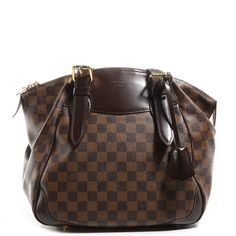 This is an authentic LOUIS VUITTON Damier Ebene Verona MM. This bag  features signature pleated a3be8d32f1
