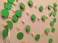 Tinkerbell Inspired Party Glitter Garland by MinniesChicBoutique