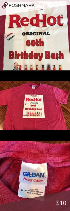 FRANKS RED HOT men's size small tshirt This shirt is amazing for the chef, cook, BBQ,  or hot sauce enthusiast in your life. Premier preworn condition. No rips, stains, tears, holes or excess wear. Men's size small. See more of this cool tshirt at our SAINTS VINTAGE RESALE channel. https://youtu.be/q5-k_il-11g Gildan Shirts Tees - Short Sleeve