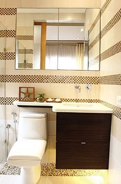 Checkered tiles make this bathroom stand out.