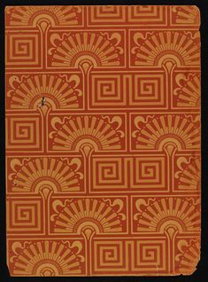 Orange 'Brick' #wallpaper by Lewis Foreman Day, England, ca.1887 - 1900 l Victoria and Albert Museum