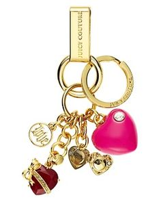juicy couture keychain for my car keys :)