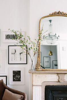 Parisian Apartment Decor Secrets To Steal For A Chic Home Living Room Inspiration, Home Decor Inspiration, Decor Ideas, Decorating Ideas, Wall Ideas, Mirror Ideas, Decorating Websites, Mirror Inspiration, Interior Decorating