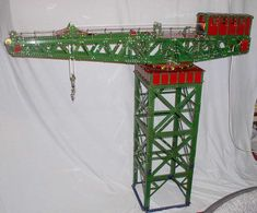 Meccano model page 15 Hobby Toys, Cool Toys, Valance Curtains, Engine, Hobbies, Gadgets, Home Decor, Gaming, Nostalgia