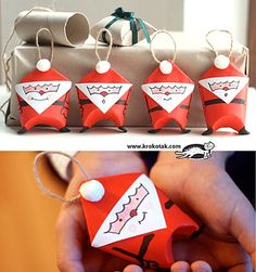 Mini-Santa-Gift-Bags-Made-Out-Of-Toilet-Paper-Rolls