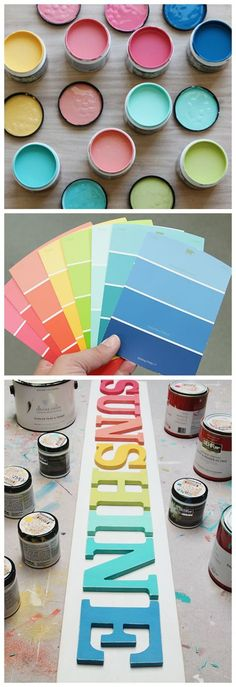 The Perfect Paint Colors is part of Kids room paint - It's taken me years to find the PERFECT modern rainbow paint colors I'm sharing them all here for you Come and see my most favorite Paint Colors Do It Yourself Design, Kids Room Paint, Favorite Paint Colors, Favorite Color, Rainbow Painting, Rainbow Room, New Wall, Painting For Kids, My New Room