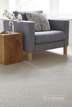 Cormar's Living Naturals. Colour Zinc. Also available in Quarry and Hemp. Living Naturals is a textured loop pile carpet, which comes in a ribbed or a weave design.