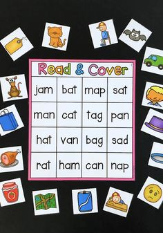Nursing Notes Discover Read and Cover CVC Center This CVC literacy center has students match the short vowel words to the pictures shown. There are 8 boards covering short a short e short o short i and short u words. Kindergarten Learning, Teaching Phonics, Preschool Learning Activities, Alphabet Activities, Short Vowel Activities, Word Family Activities, Language Activities, Center Ideas For Kindergarten, Kindergarten Literacy Centers