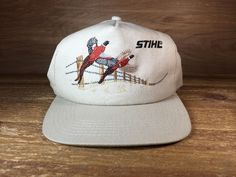 Stihl Small Engine Pheasant Hat Tan Color Adjustable Baseball Cap #STIHL #BaseballCap
