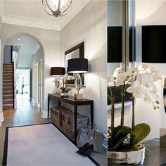 💖 89 furniture decoration options for an inspiring hall 78 Hallway Decorating, Entryway Decor, Hall Way Decor, Modern Entryway, Renta Casa, Interior Exterior, Interior Design, Flur Design, Hallway Console