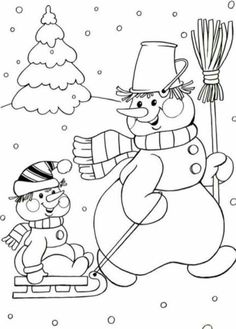 Coloring Pages Winter, Coloring Pages To Print, Free Coloring Pages, Coloring Books, Christmas Coloring Sheets, Coloring Sheets For Kids, Christmas Doodles, Christmas Drawing, Christmas Colors