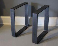Metal Leg, Bench Leg, Table Leg, Steel Leg, Pair of Legs,  Reclaimed Wood