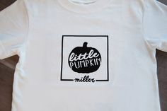 Children's Halloween Shirt Little Pumpkin by SayWhatDesign