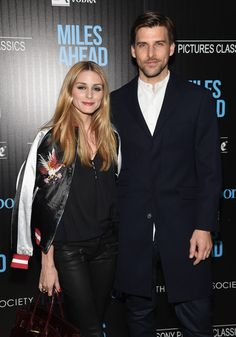"""TV personality Olivia Palermo and model Johannes Huebl arrive at the screening of Sony Pictures Classics' """"Miles Ahead"""" hosted by The Cinema Society with Ketel One and Robb Report at Metrograph on March 23, 2016 in New York City."""